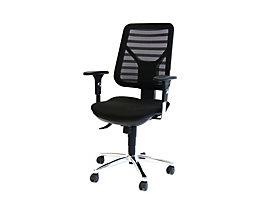 PANDA Ergonomischer Bürostuhl - inkl. Armlehnen und Punktsynchronmechanik - schwarz ab 3 Stück