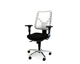 PANDA Ergonomischer Bürostuhl - inkl. Armlehnen und Punktsynchronmechanik - weiß