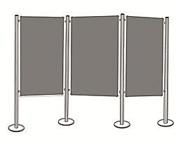 magnetoplan® Präsentationsboard-Set - 3 Pinntafeln, 4 Säulen