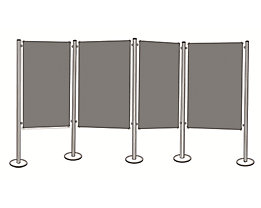 magnetoplan® Pinboard-Set - 4 Pinntafeln, 5 Säulen