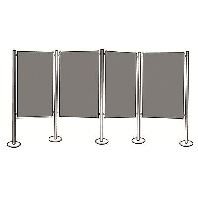 magnetoplan® Pinboard-Set - 4 Pinntafeln, 5 Säulen - Gesamtbreite 5185 mm