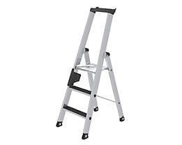 Stufen-Stehleiter - einseitig begehbar, rutschhemmend