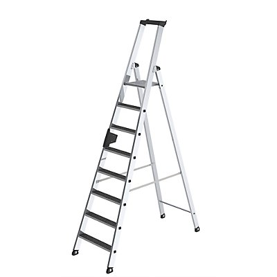 Günzburger Steigtechnik Stufen-Stehleiter - einseitig begehbar, rutschhemmend
