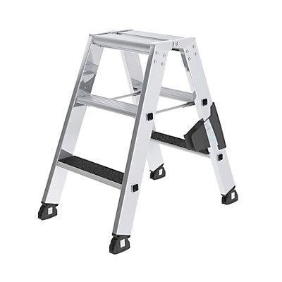 Stufen-Stehleiter - beidseitig begehbar, rutschhemmend