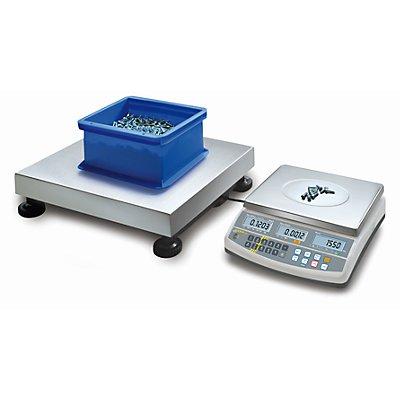 Zählsystem - Mengenwaage max. 60 kg, Breite 400 mm, TxH 300 x 128 mm