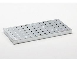 Lochblechrost - verzinkt, für Universalwanne, für Auffangvolumen 25 l