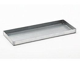 Stahl-Kleingebinde-Auffangwanne - LxBxH 940 x 370 x 60 mm, verzinkt