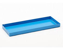 Stahl-Kleingebinde-Auffangwanne - LxBxH 940 x 370 x 60 mm, lichtblau