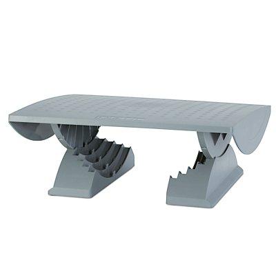 MAUL Fußstütze, ergonomisch - Stellfläche BxT 450 x 390 mm, grau