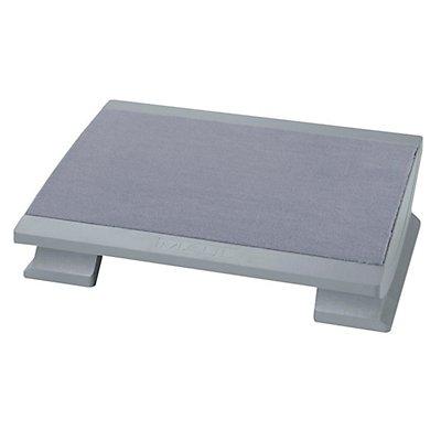MAUL Fußstütze, ergonomisch - Stellfläche BxT 450 x 390 mm, mit Teppichbelag, grau