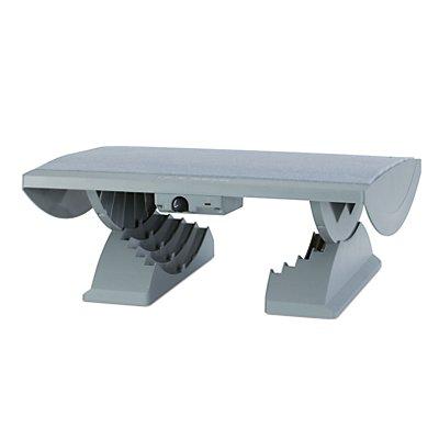 MAUL Fußstütze, ergonomisch - Stellfläche BxT 450 x 390 mm, beheizt, grau