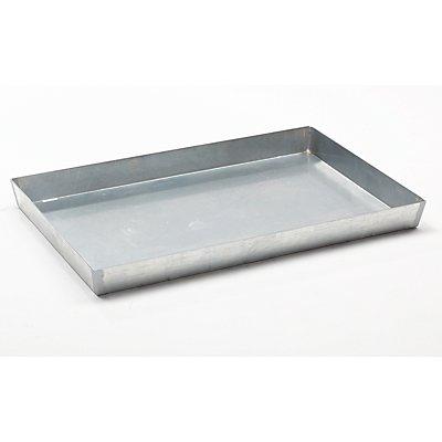 Stahl-Kleingebinde-Palettenwanne - Auffangvolumen 60 l, Höhe 100 mm, verzinkt