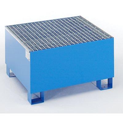 Auffangwanne für 200 l - LxBxH 800 x 800 x 465 mm, mit Zulassung