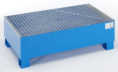 Auffangwanne für 200 l - LxBxH 1200 x 800 x 360 mm, mit Zulassung