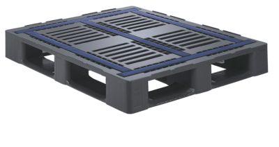 Schwerlastpalette, antirutschbeschichtet - mit 5 Kufen und 5 mm Außenkante