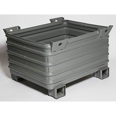 Heson Schwerlast-Stapelbehälter - BxL 800 x 1000 mm, mit U-förmigen Füßen