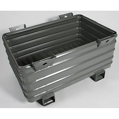 Heson Schwerlast-Stapelbehälter - BxL 800 x 1200 mm, mit U-förmigen Füßen
