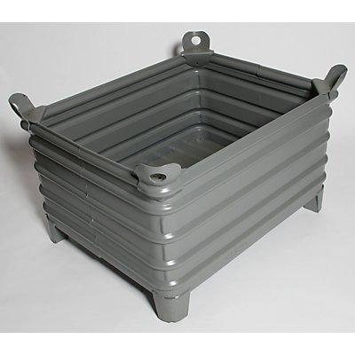 Heson Schwerlast-Stapelbehälter - BxL 800 x 1000 mm, mit Ecktaschen