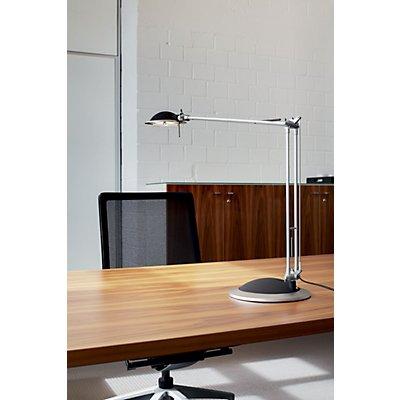 MAUL Halogen-Tischleuchte, 50 W - Stand- und Klemmfuß, silber