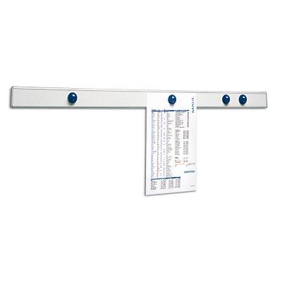MAUL Magnet-Wandschiene - LxBxT 1000 x 53 x 10 mm, silber
