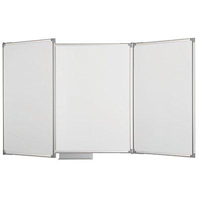 MAUL Wand-Klapptafel, weiß - Höhe 1000 mm, mit 2 Flügeln