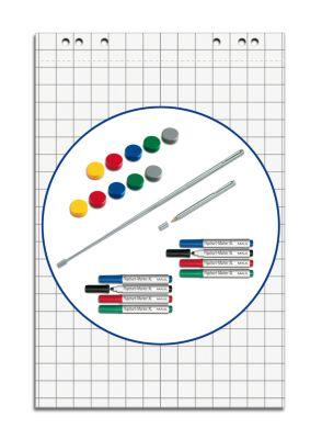 MAUL Flipchart - Starter-Set, Magnete und Kugelschreiber