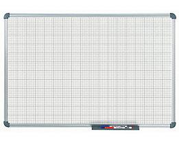 MAUL – Tableau quadrillé blanc - quadrillage 10 x 10 / 50 x 50 mm
