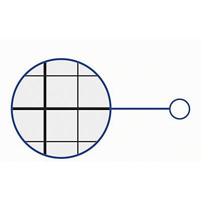 MAUL Rastertafel, weiß - Raster 10 x 10 / 50 x 50 mm