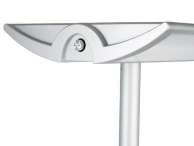 MAUL Standleuchte, Standfuß 280 x 420 mm - 4 x 55 W, 1900 lx, silber
