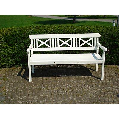 Holz-Sitzbank - Länge 1.525 mm, weiß lackiert - weiß
