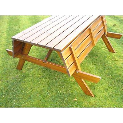 Ensemble table et banc rectangulaire - marron