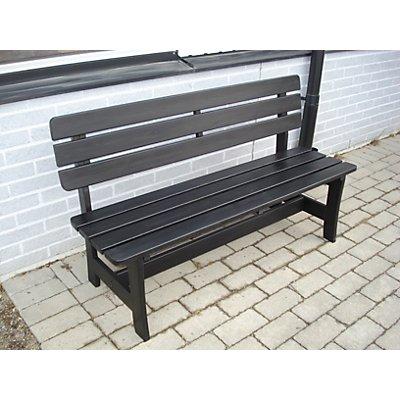 Holzsitzbank, schwarz - Gesamtlänge 1600 mm - schwarz