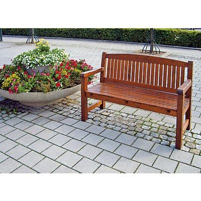Holz-Sitzbank, braun - wetterfest