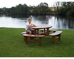 Gruppensitzbank, rund - Tisch-Ø 1100 mm