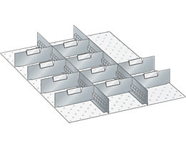 Lista Schubladeneinteilung - 12-teilig, für Fronthöhe 50 mm