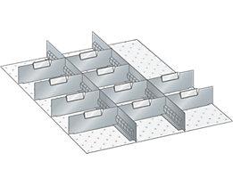 Lista Schubladeneinteilung - 12-teilig, für Fronthöhe 75 mm