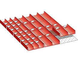 Lista Schubladeneinteilungs-Set - Mulden, für Fronthöhe 50 mm, 4 x 3 kleine Muldenteile