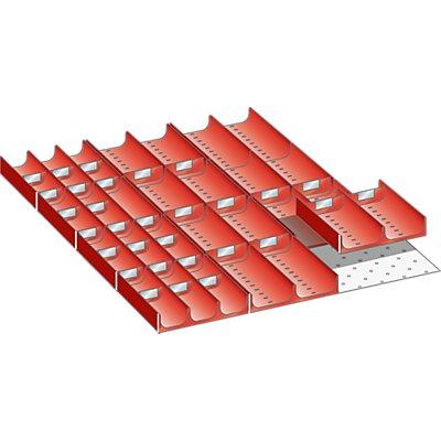 Lista Schubladeneinteilungs-Set - Mulden, für Fronthöhe 50 mm