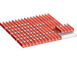 Lista Schubladeneinteilungsmaterial-Set - Mulden, für Fronthöhe 50 mm, 86-teilig