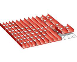 Lista Schubladeneinteilungsmaterial-Set - Mulden, für Fronthöhe 50 mm, 76-teilig