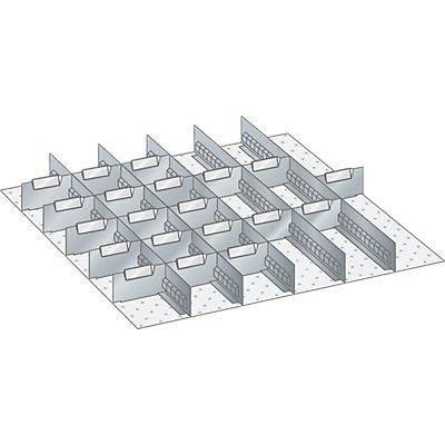 Lista Schubladeneinteilungsmaterial-Set - 5 Schlitzwände und 20 Trennbleche, 25-teilig
