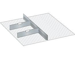 Lista Schubladeneinteilungsmaterial-Set - 1 Schlitzwand und 2 Trennbleche, 3-teilig, 125 mm