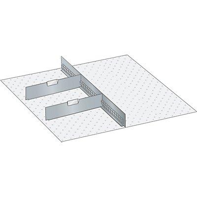Lista Schubladeneinteilungsmaterial-Set - 1 Schlitzwand und 2 Trennbleche, 3-teilig
