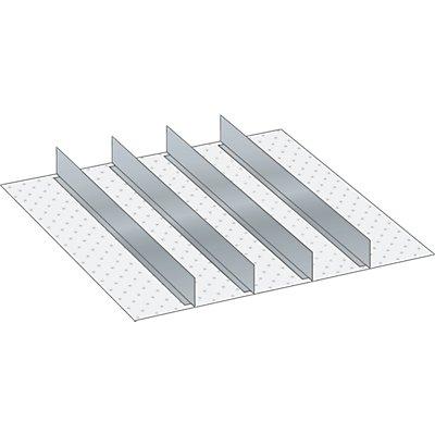 Lista Schubladeneinteilungsmaterial-Set - 4 Trennwände, für Fronthöhe 75 mm
