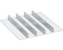 Lista Schubladeneinteilungsmaterial-Set - 4 Trennwände, 125 mm