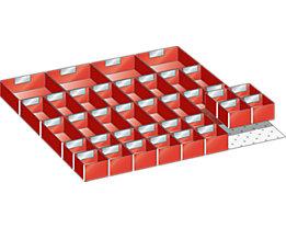 Lista Schubladeneinteilungsmaterial-Set - 36 Einsatzkästen, für Fronthöhe 50 mm