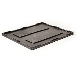 Deckel mit überkragendem Rand - schwarz, für LxB 1200 x 1000 mm