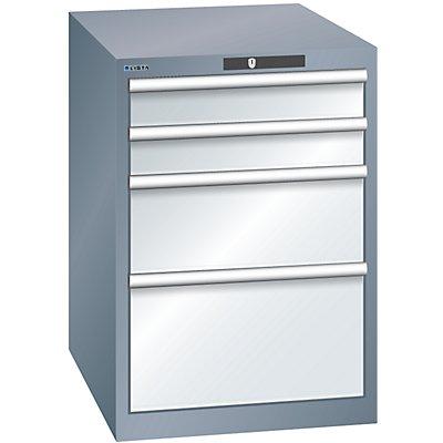 Lista Schubladenschrank, Stahlblech - HxB 800 x 564 mm, 4 Schubladen