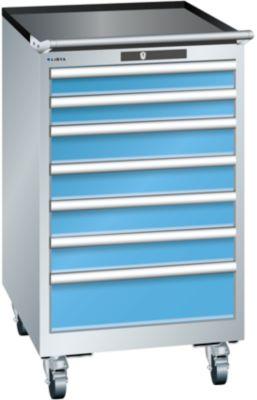 Lista Schubladenschrank, Stahlblech - HxB 990 x 564 mm, 7 Schubladen, fahrbar
