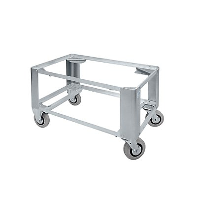 Aluminium-Fahrgestell - Aufsetzhöhe 450 mm - 2 Lenk- und 2 Bockrollen